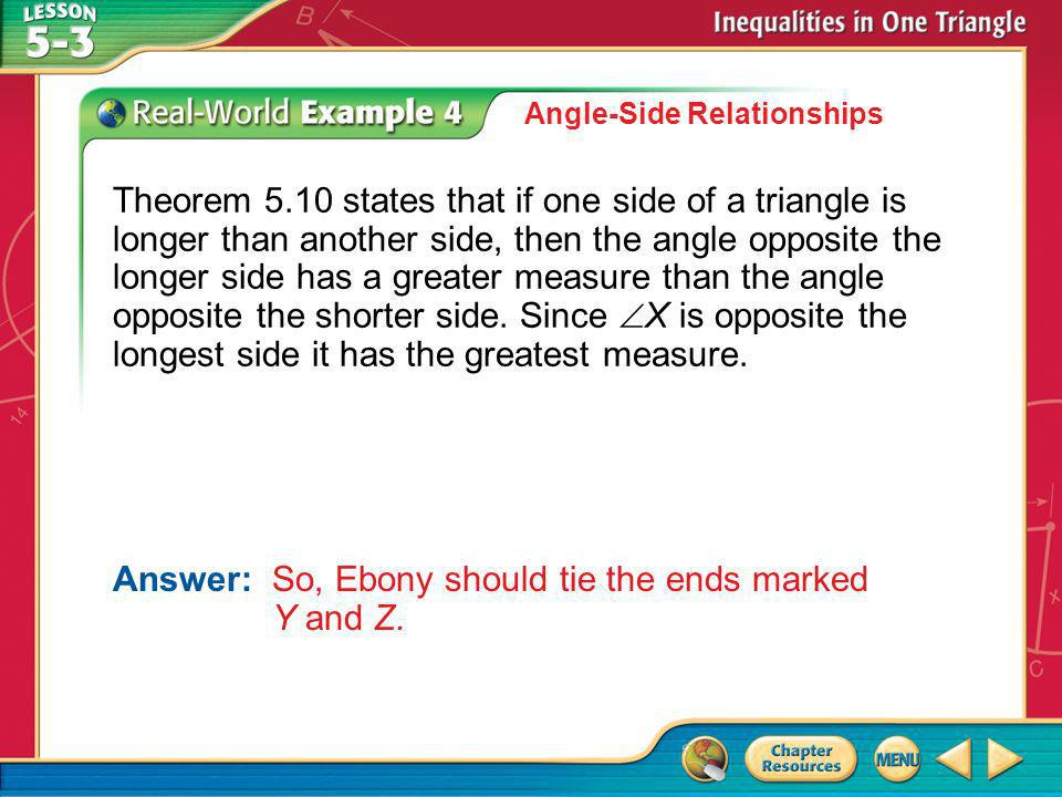 Answer: So, Ebony should tie the ends marked Y and Z.