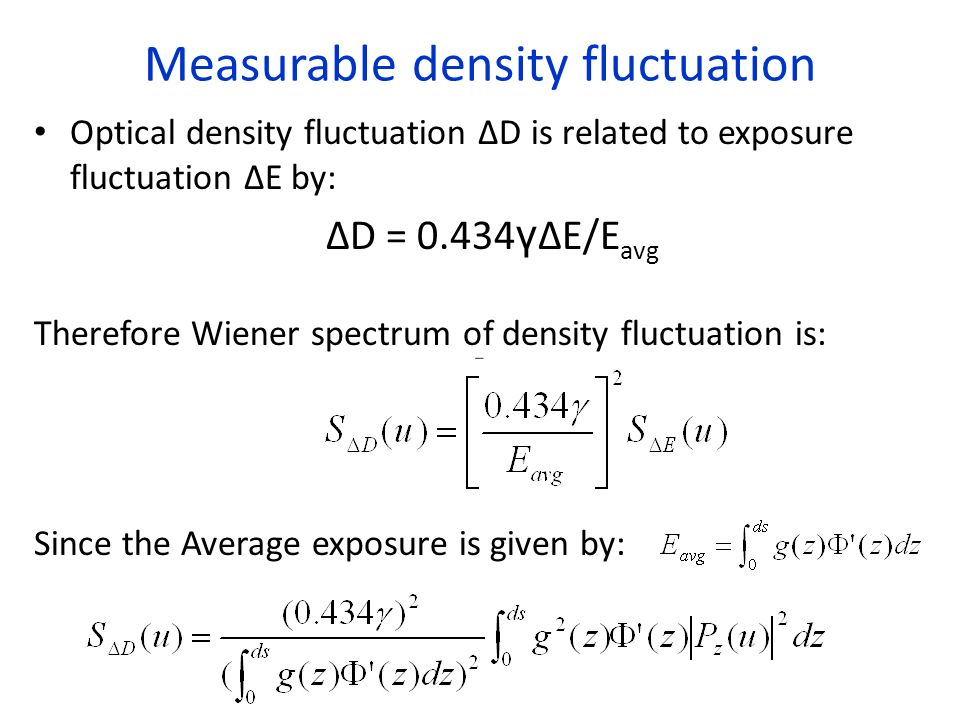 Measurable density fluctuation