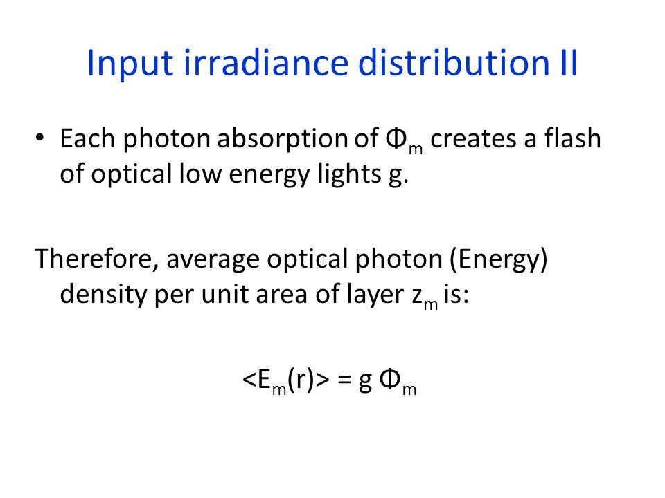 Input irradiance distribution II