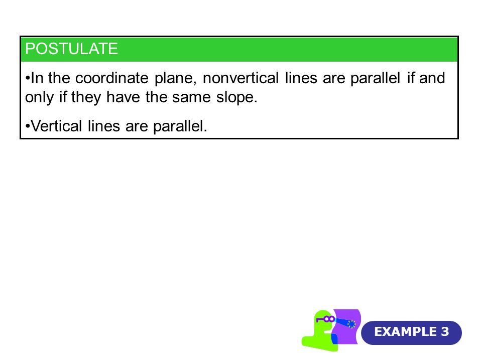 Vertical lines are parallel.