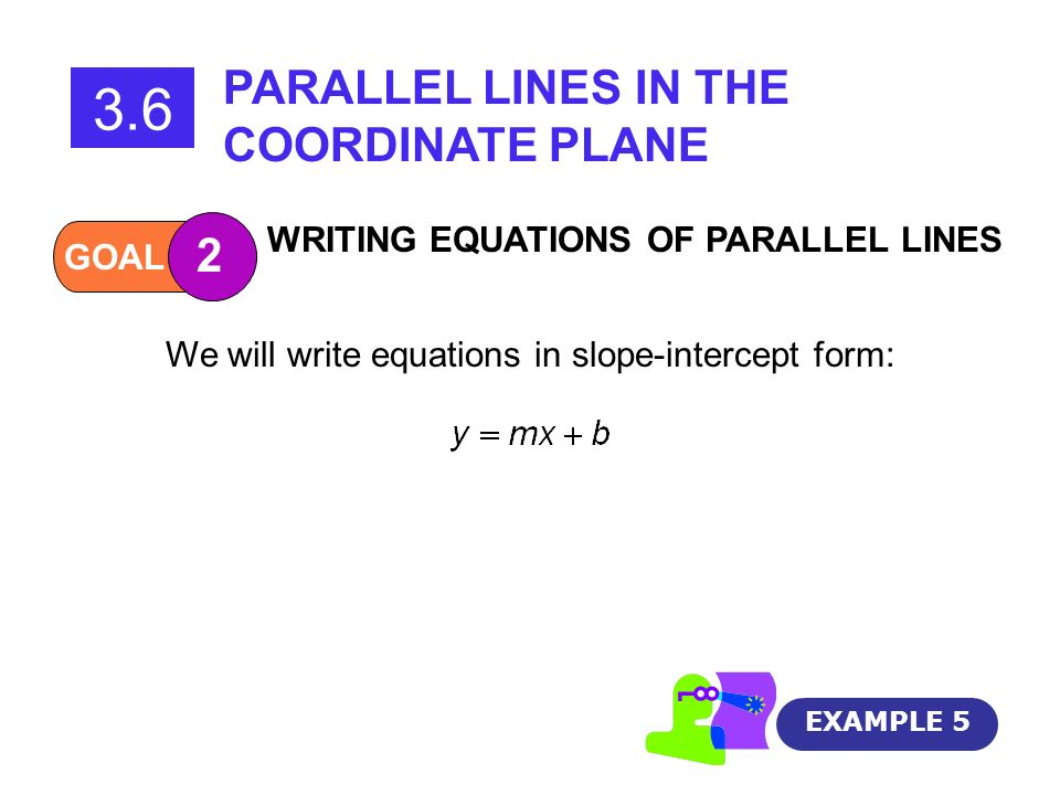 We will write equations in slope-intercept form: