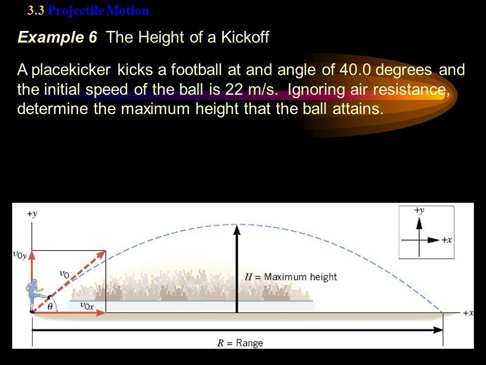 Example 6 The Height of a Kickoff