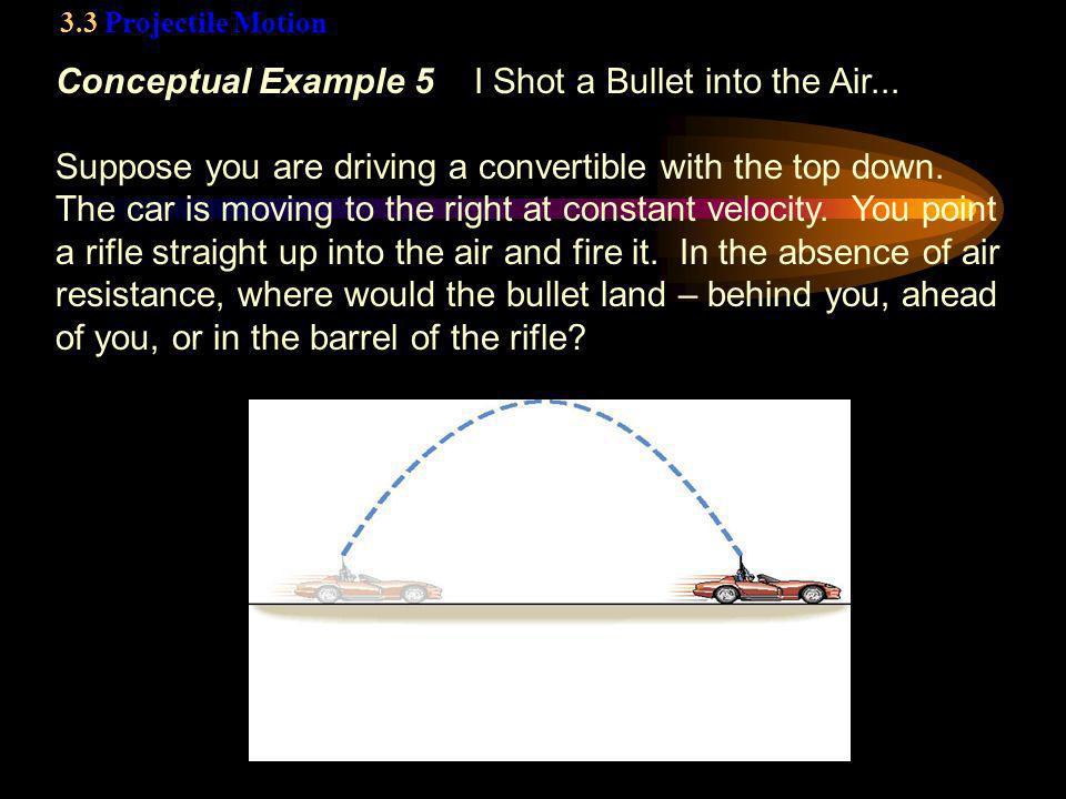 Conceptual Example 5 I Shot a Bullet into the Air...