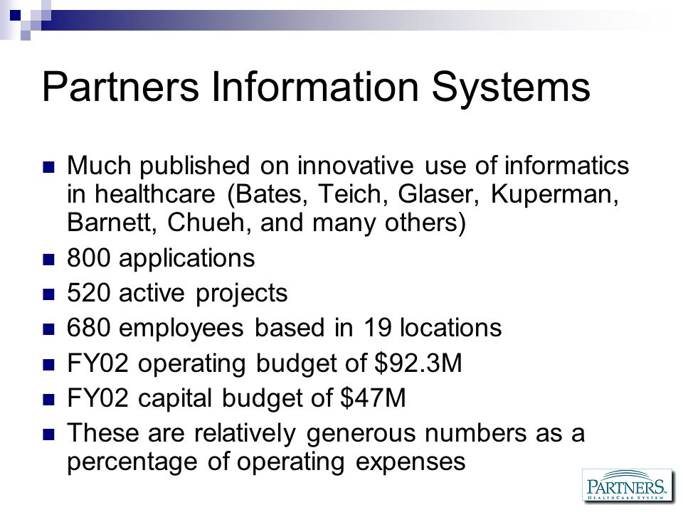 Partners Information Systems