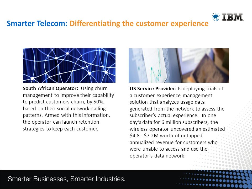 Smarter Telecom: Differentiating the customer experience