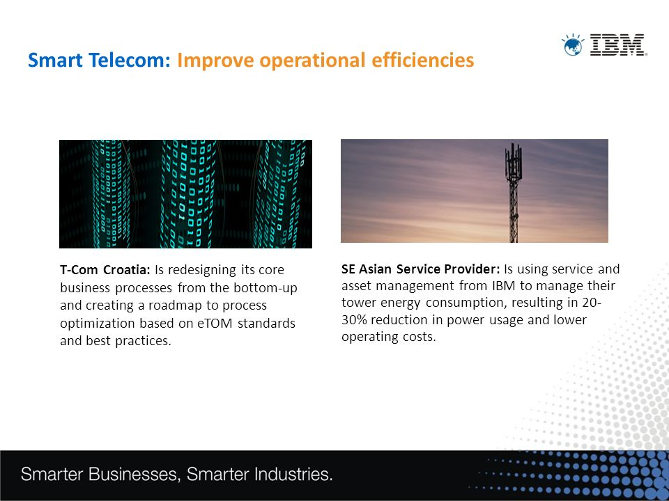Smart Telecom: Improve operational efficiencies