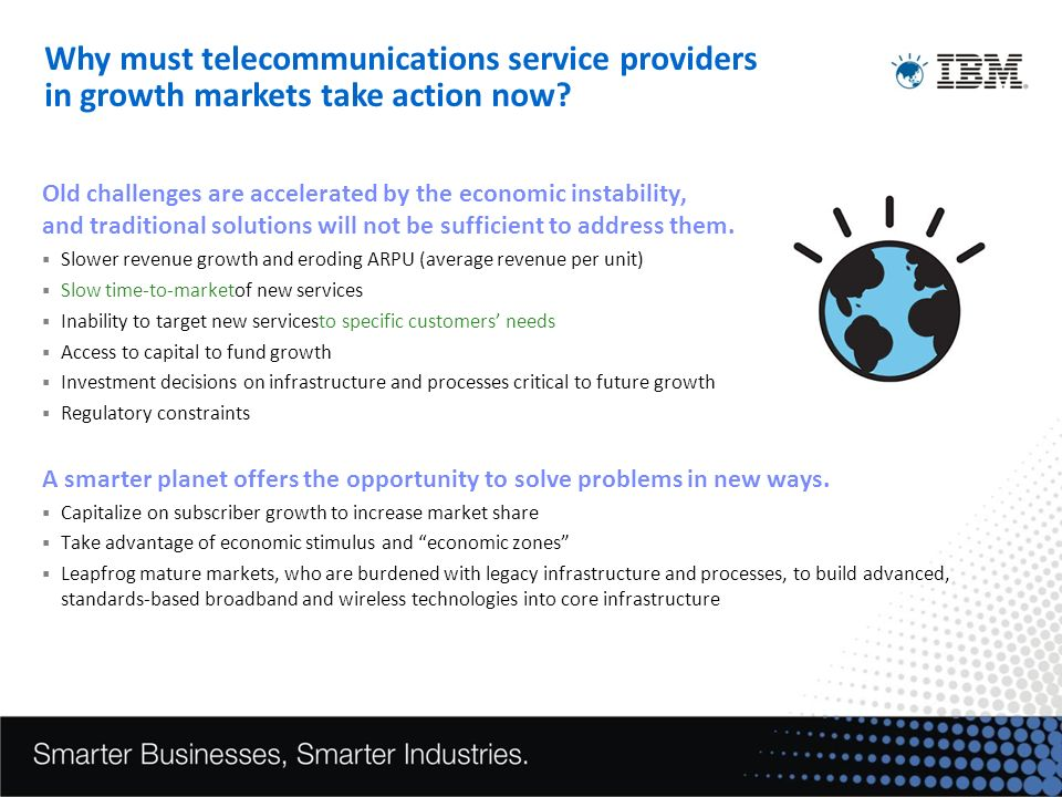 Why must telecommunications service providers in growth markets take action now