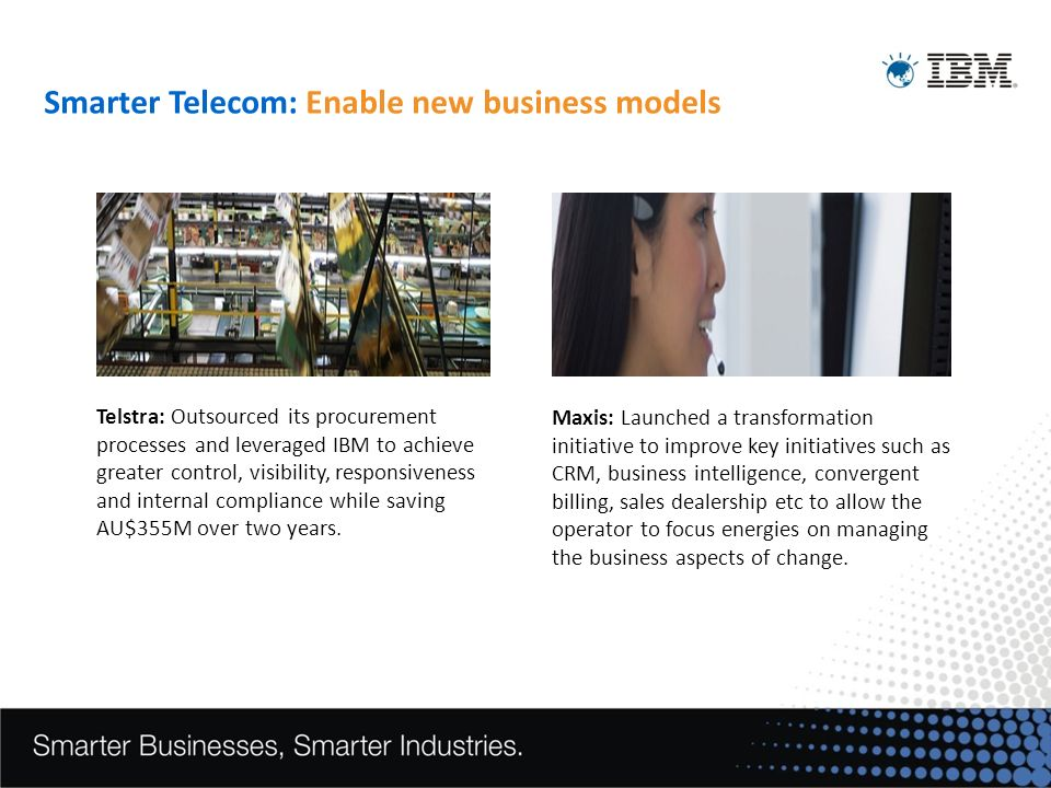 Smarter Telecom: Enable new business models