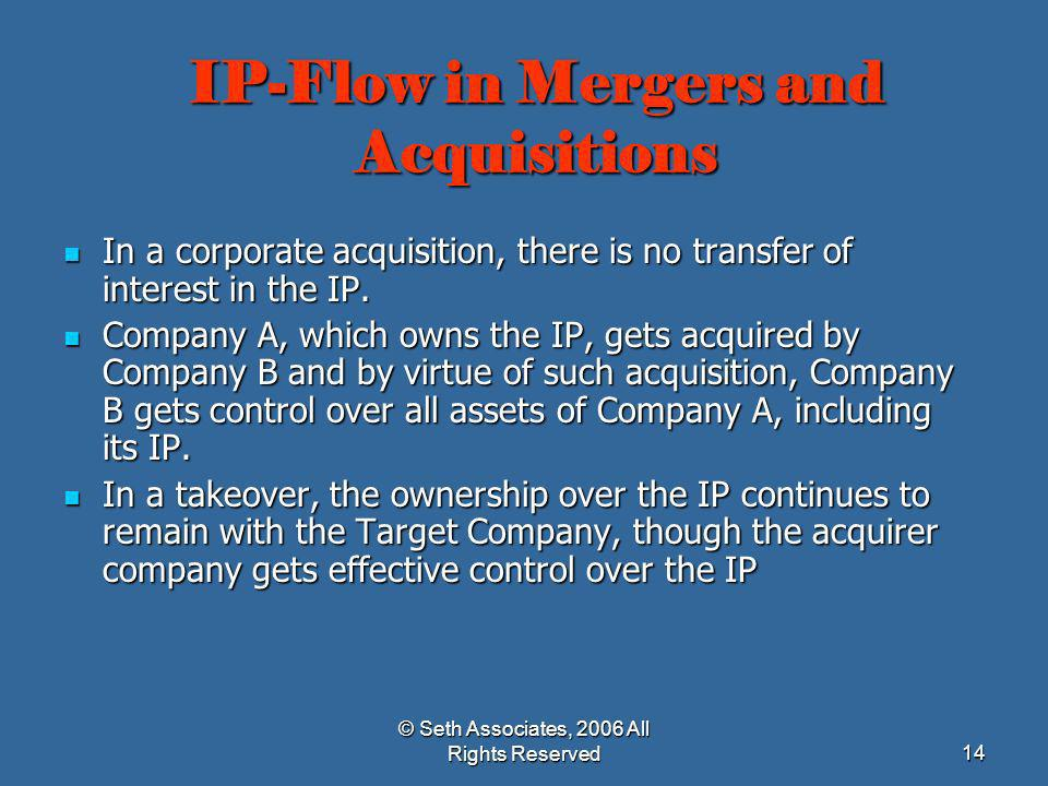 IP-Flow in Mergers and Acquisitions