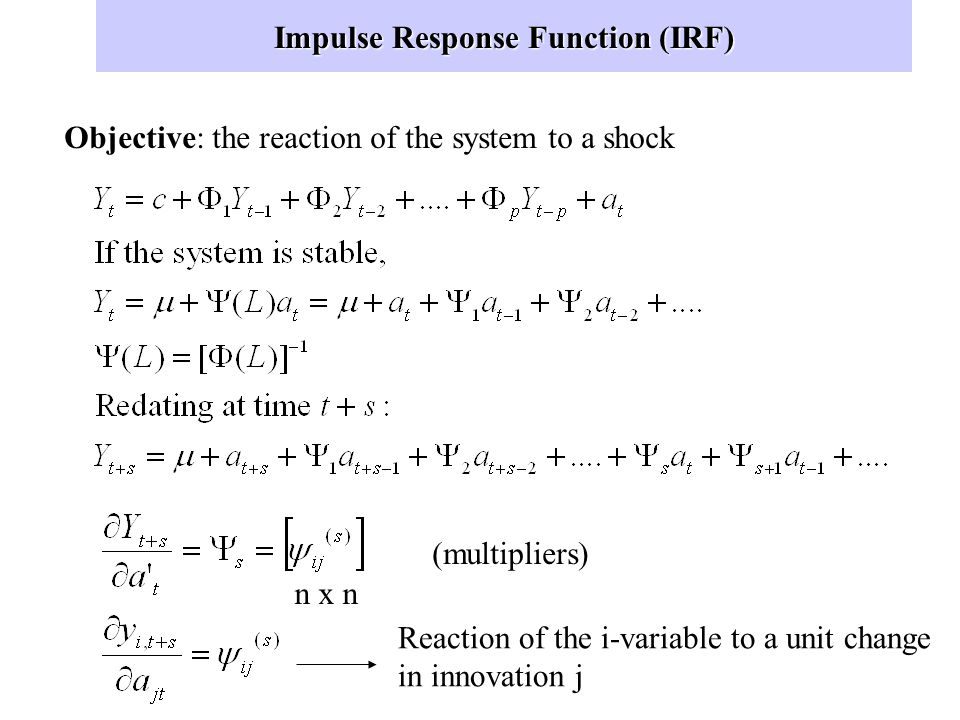 Impulse Response Function (IRF)