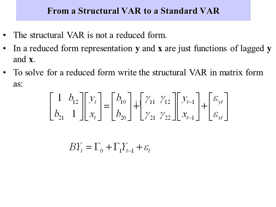 From a Structural VAR to a Standard VAR