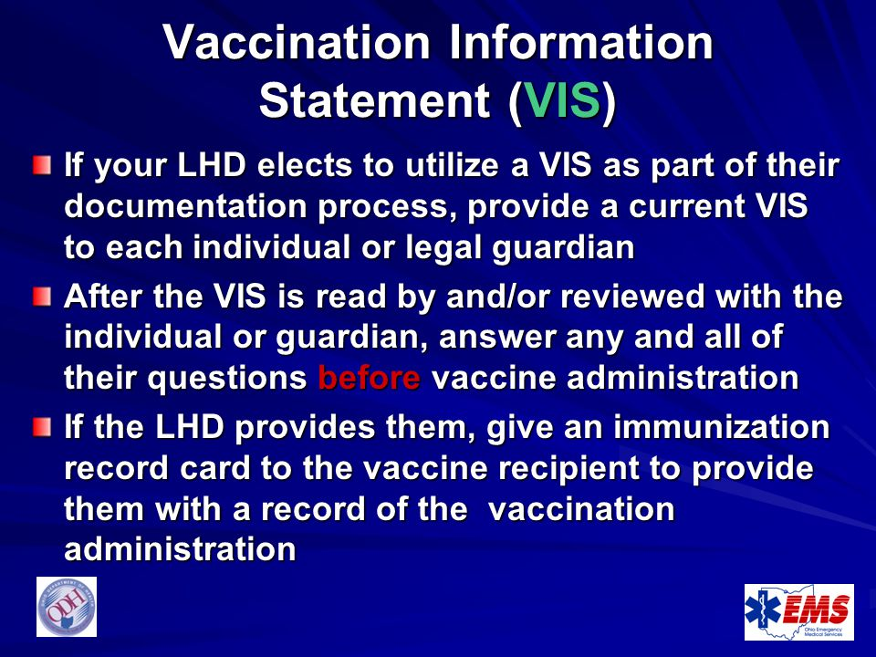 Vaccination Information Statement (VIS)