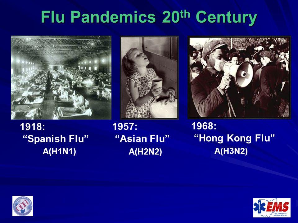 Flu Pandemics 20th Century