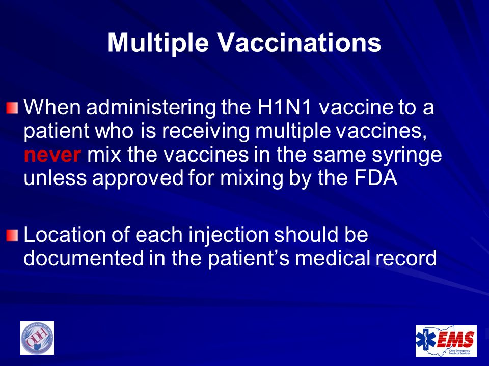 Multiple Vaccinations
