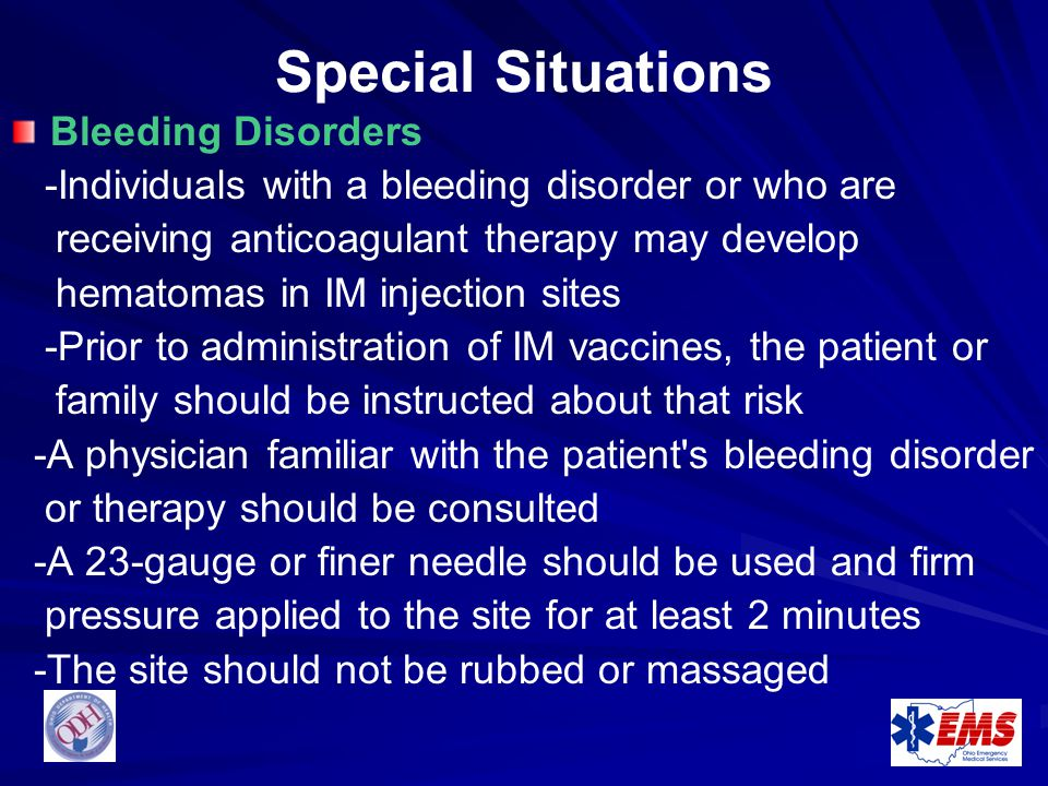 Special Situations Bleeding Disorders