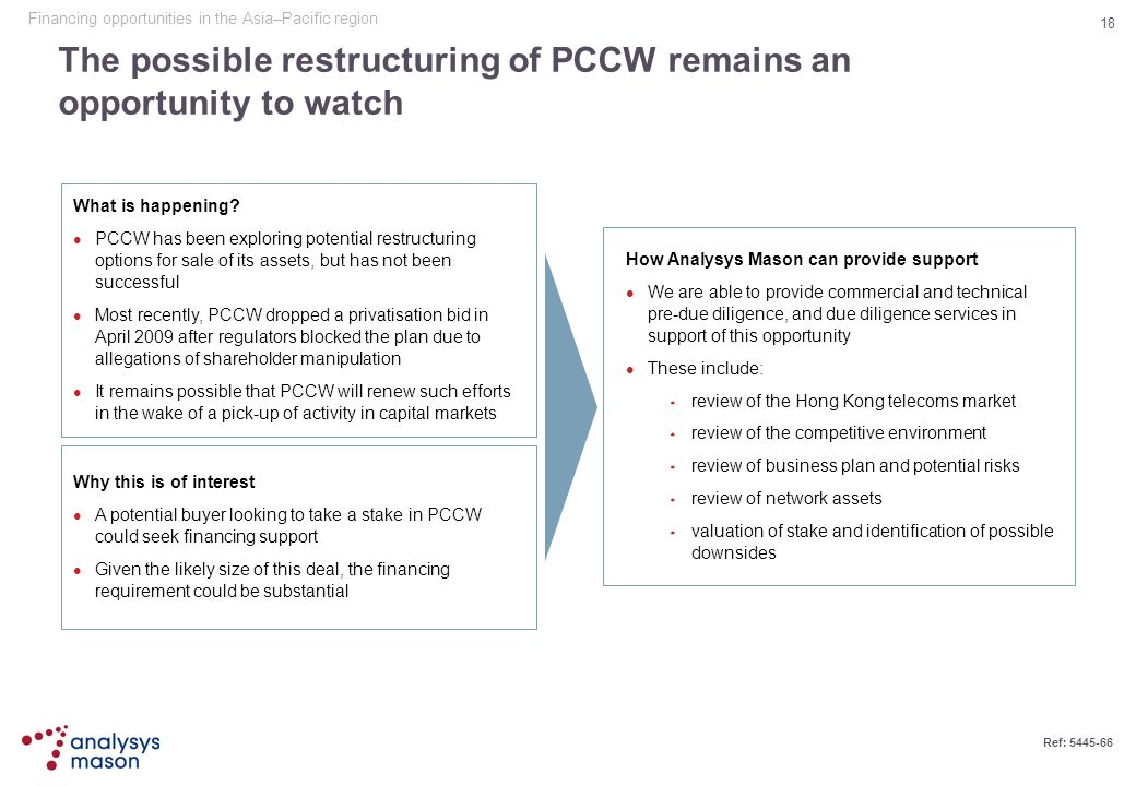 The possible restructuring of PCCW remains an opportunity to watch