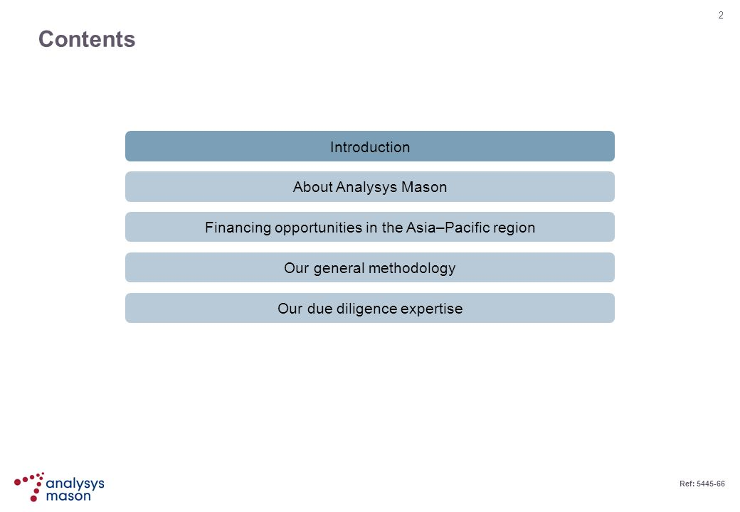 Contents Introduction About Analysys Mason