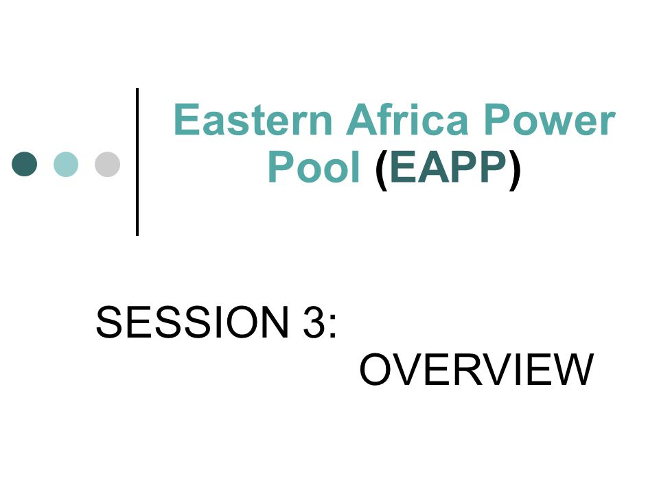 Eastern Africa Power Pool (EAPP)