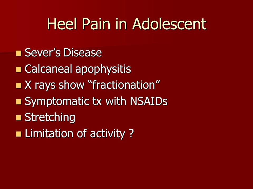 Heel Pain in Adolescent