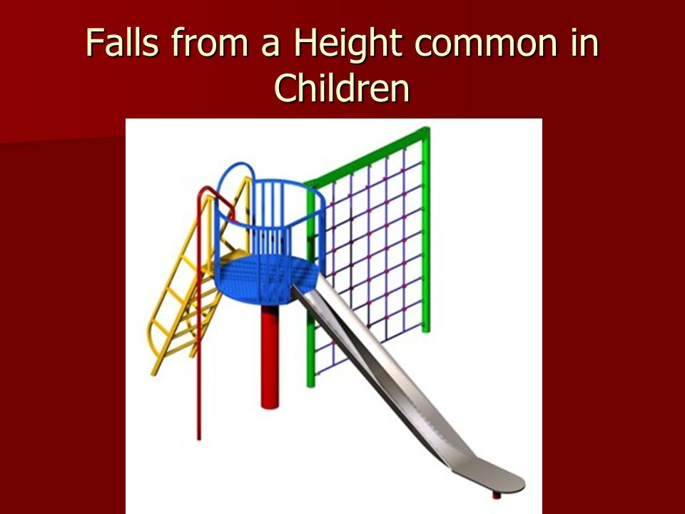 Falls from a Height common in Children