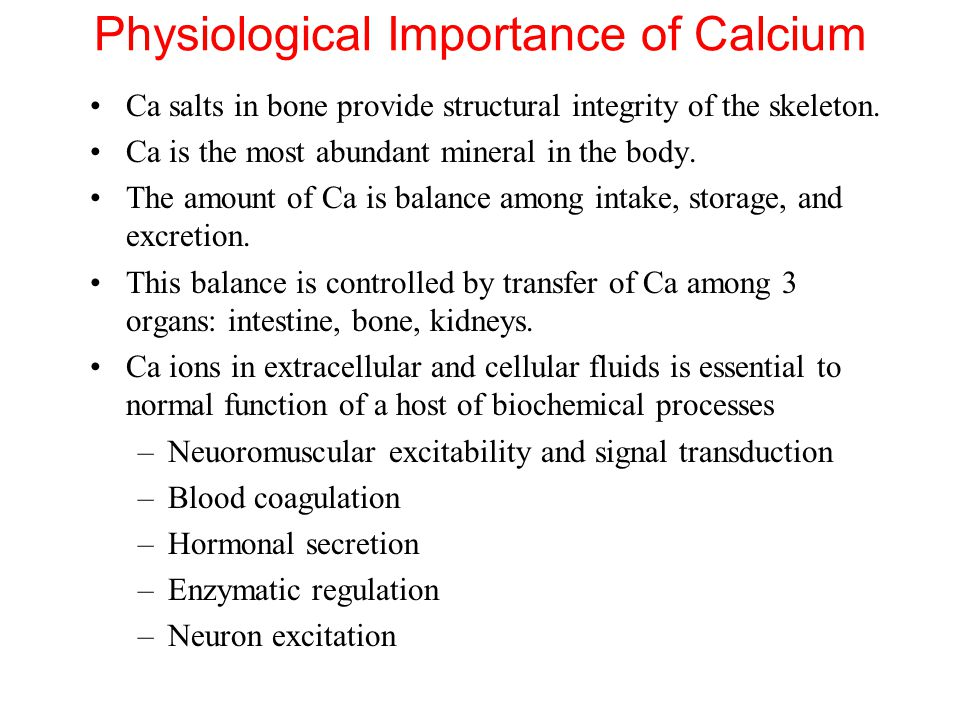 the characteristics of calcium an important mineral Basic description calcium is a very important mineral in human metabolism, making up about 1-2% of an adult human's body weight in addition to its widely known role in bone structure, calcium is used to help control muscle and nerve function, as well as to manage acid/base balance in our blood stream.