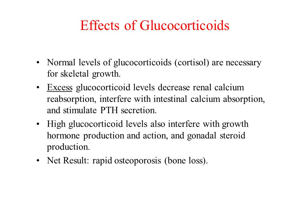 Effects of Glucocorticoids