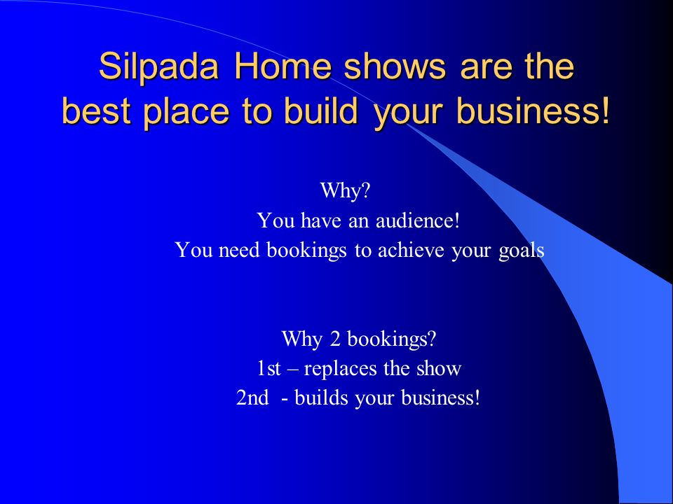 Silpada Home shows are the best place to build your business!