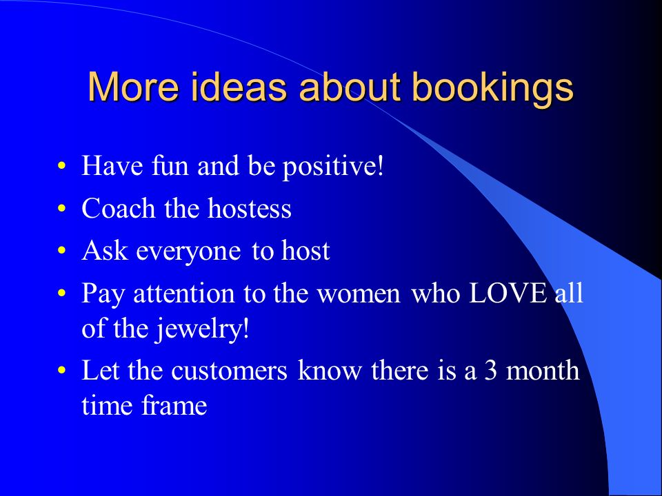 More ideas about bookings