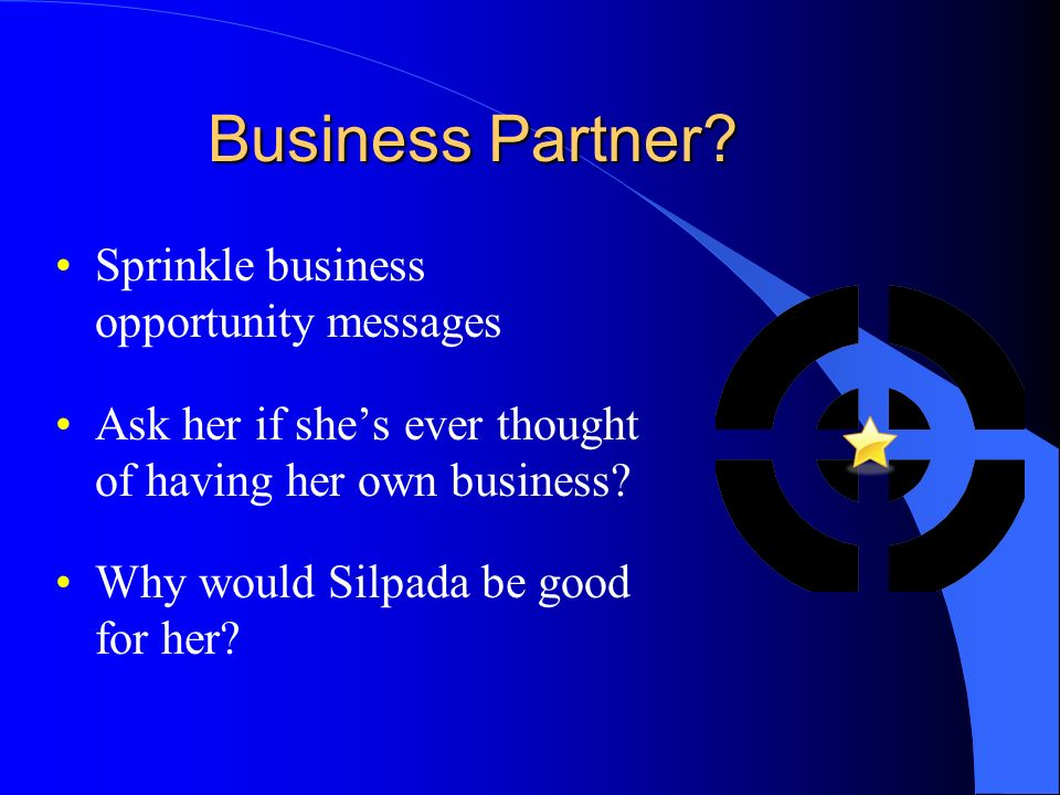 Business Partner Sprinkle business opportunity messages