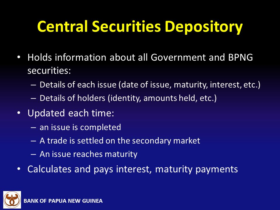 Central Securities Depository