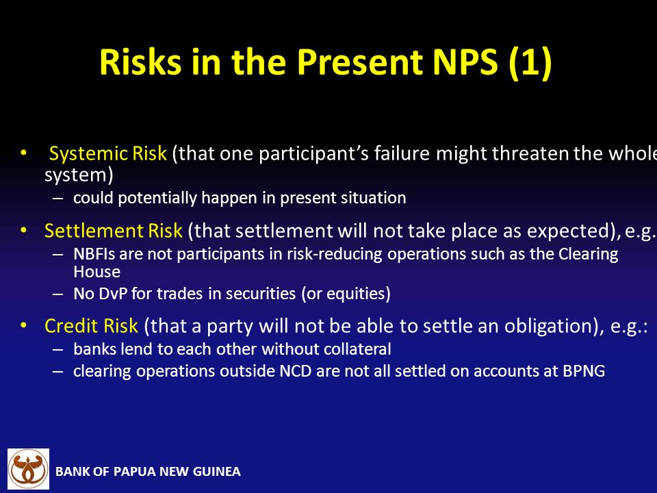 Risks in the Present NPS (1)