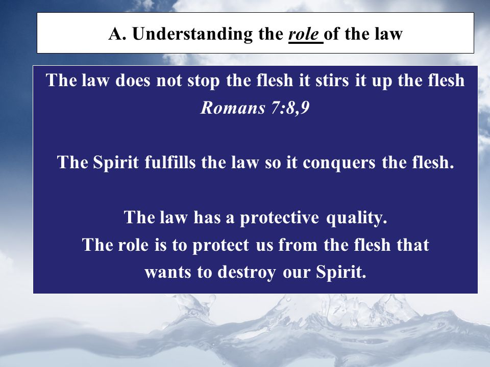 A. Understanding the role of the law