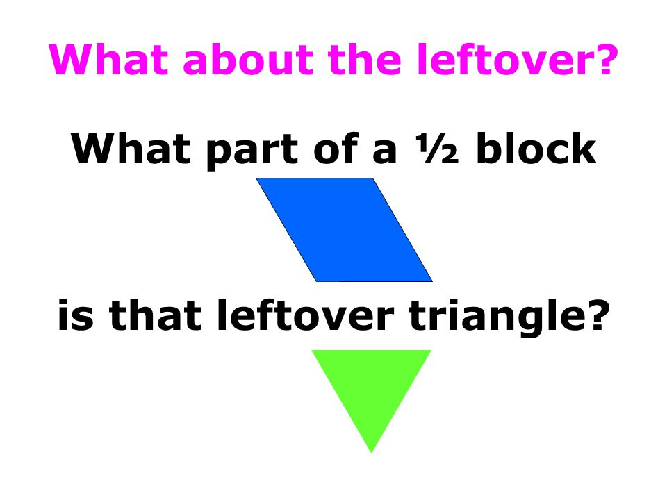 What about the leftover