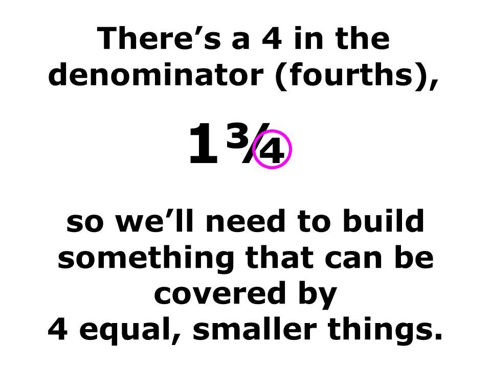 There's a 4 in the denominator (fourths),