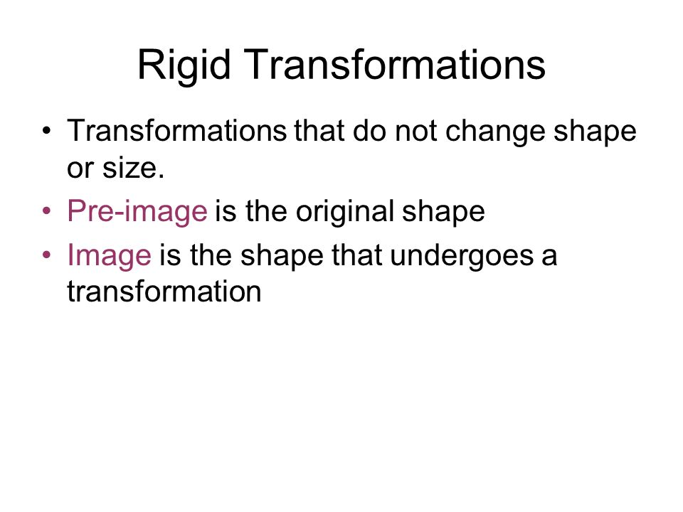 Rigid Transformations