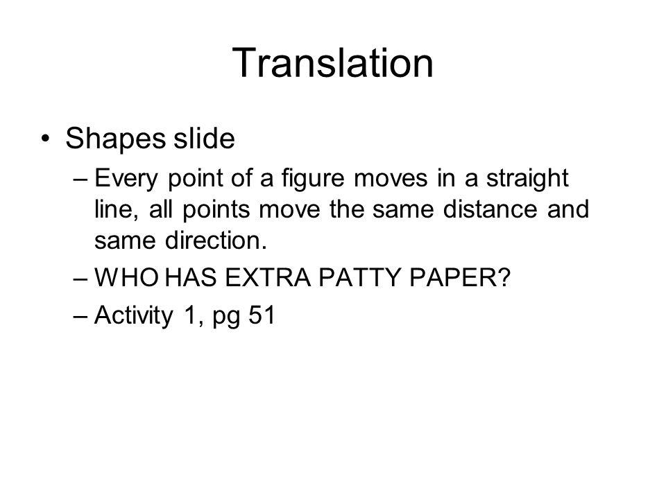 Translation Shapes slide
