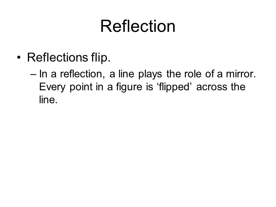 Reflection Reflections flip.