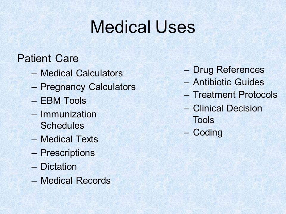 Medical Uses Patient Care Drug References Medical Calculators