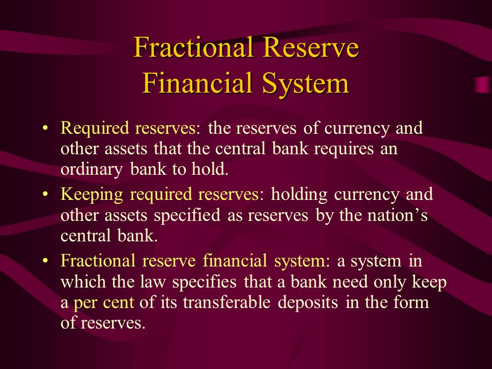 Fractional Reserve Financial System