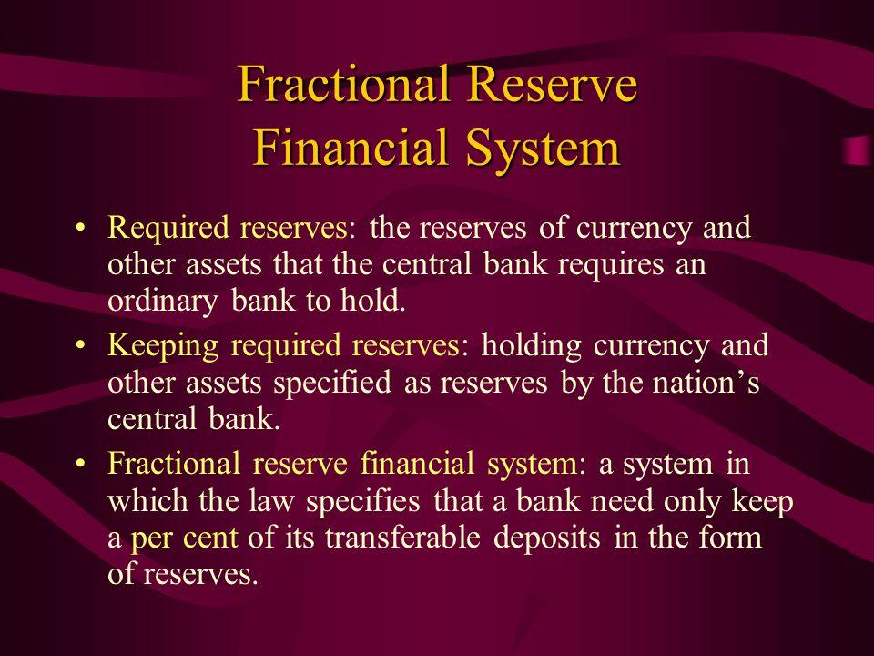 Fractional Reserve Financial System