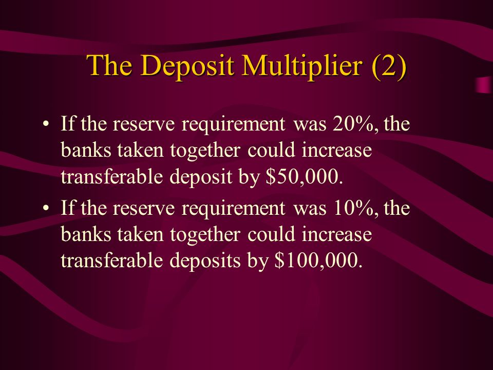 The Deposit Multiplier (2)