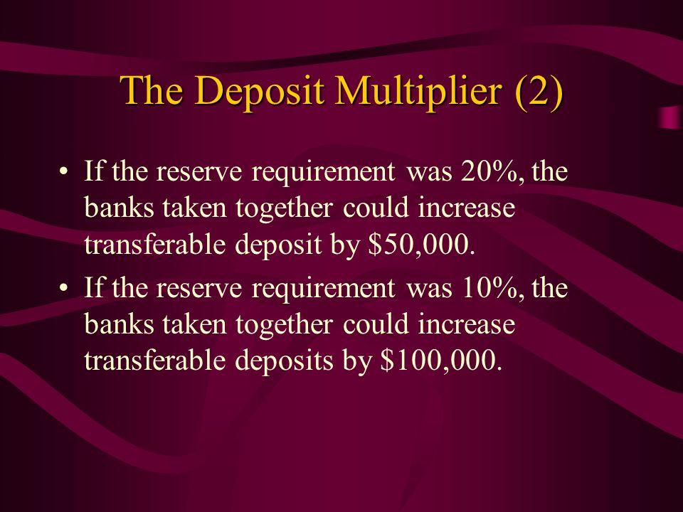 The Deposit Multiplier (2)