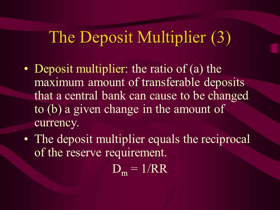 The Deposit Multiplier (3)