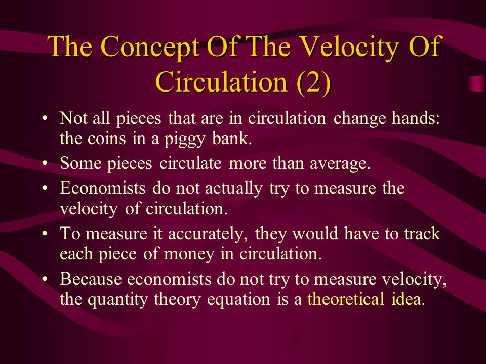 The Concept Of The Velocity Of Circulation (2)