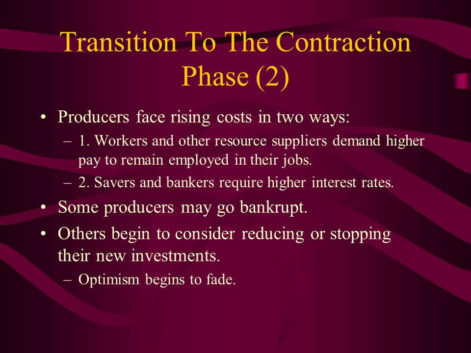 Transition To The Contraction Phase (2)