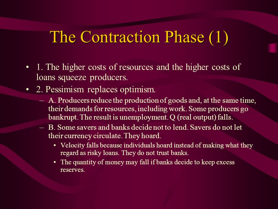 The Contraction Phase (1)