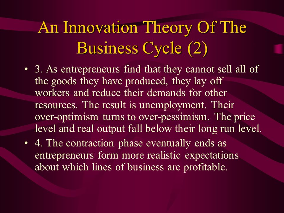 An Innovation Theory Of The Business Cycle (2)