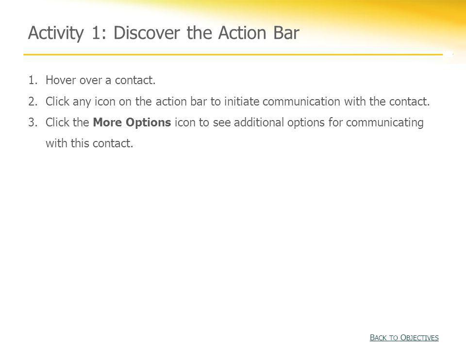 Activity 1: Discover the Action Bar