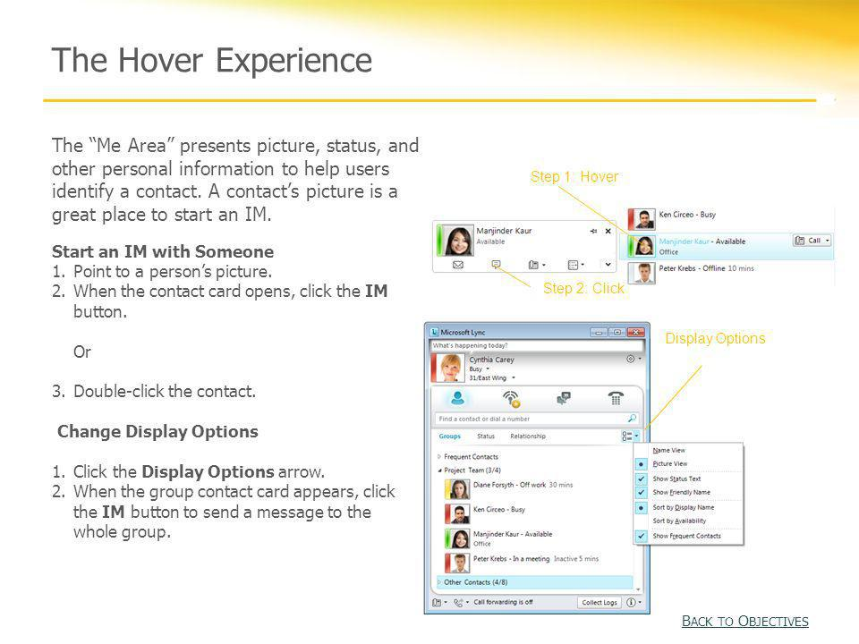 The Hover Experience