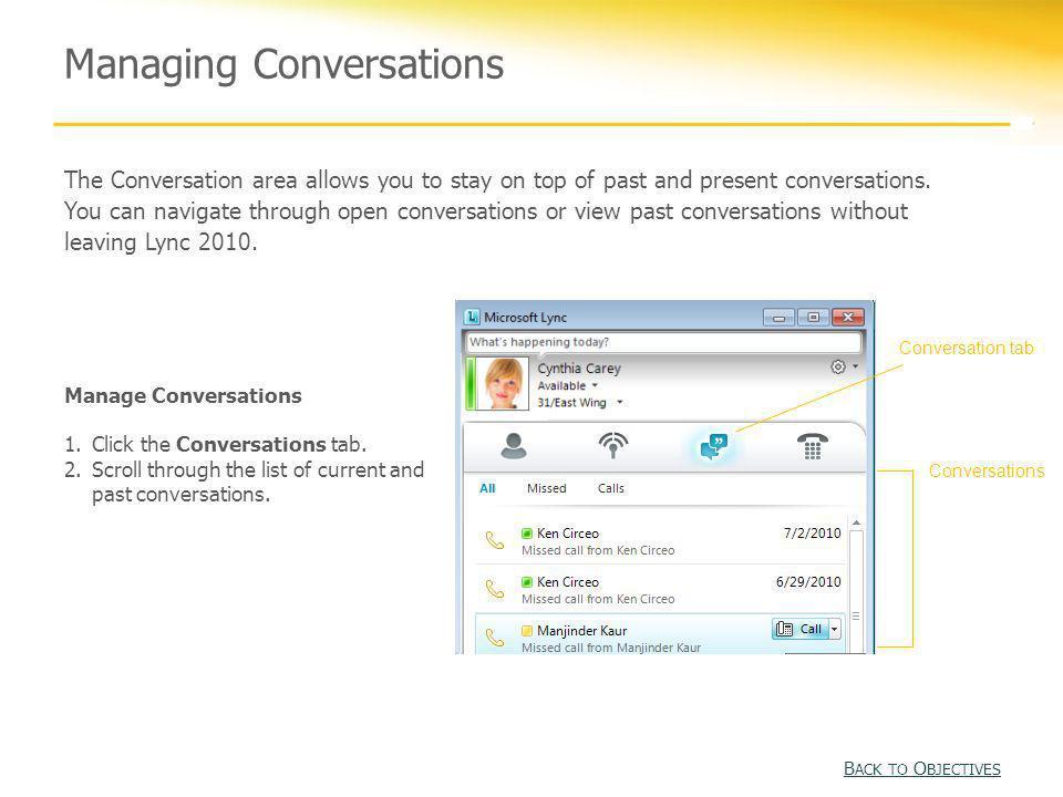 Managing Conversations